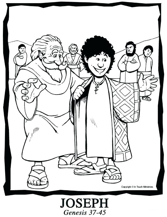 574x746 Joseph And His Coat Many Colors Coloring Page Coloring Pages