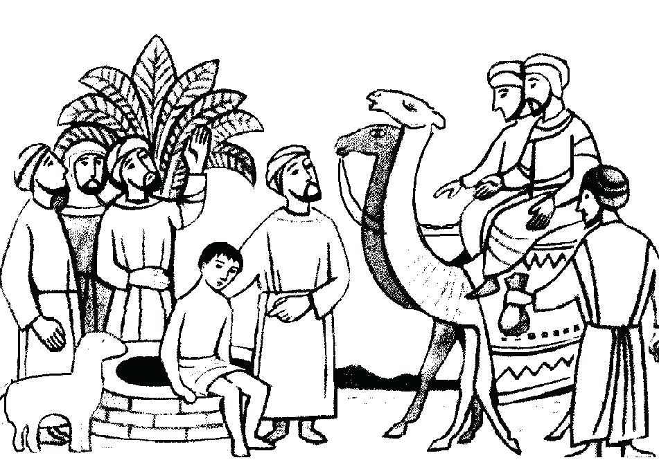 joseph bible story coloring pages 19