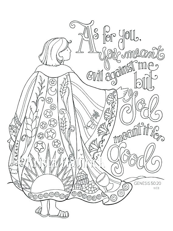 Joseph Bible Story Coloring Pages At Getdrawings Com Free For