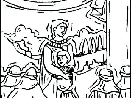 440x330 Joseph Bible Story Coloring Pages And His Brothers Coloring Page