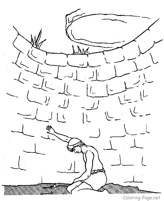 670x820 Joseph In Jail Coloring Page Educational Coloring Pages