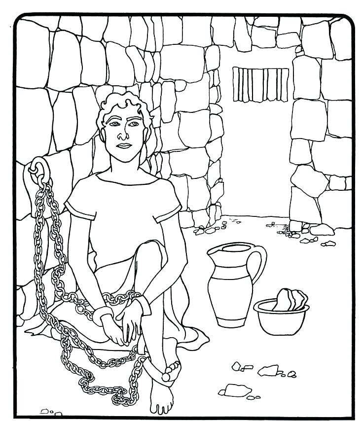 736x854 Joseph Bible Coloring Pages