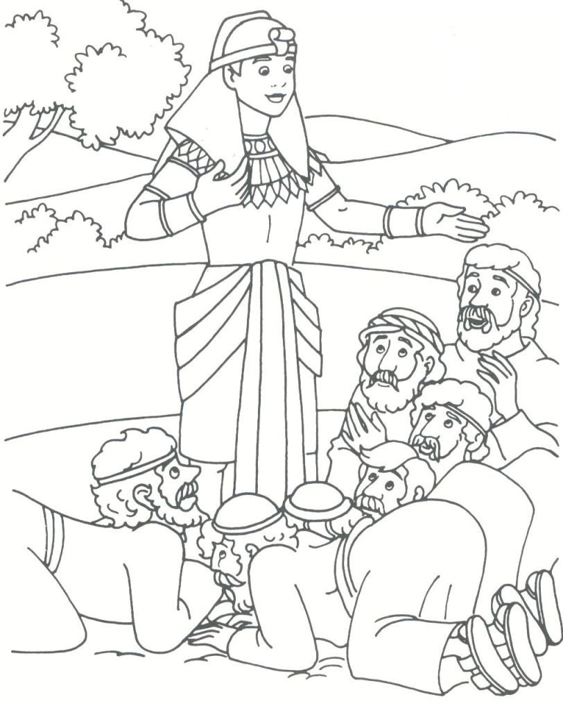 812x1017 Pharoh's Dreams Patriarch Joseph Coloring Pages Joseph