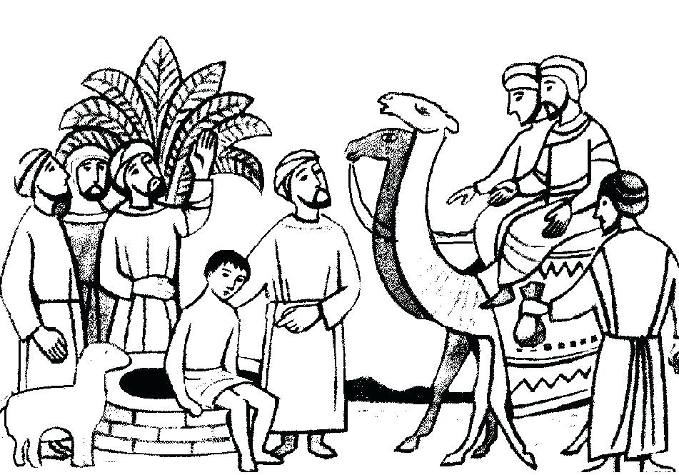 951x665 Joseph And His Coat Many Colors Coloring Page Coloring Page