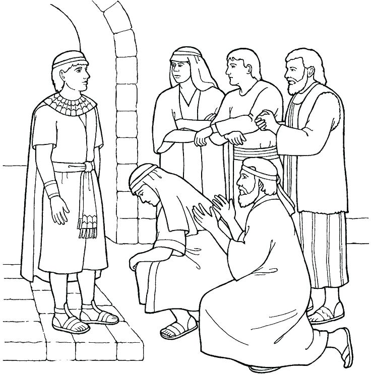 736x753 Joseph And The Coat Of Many Colors Coloring Page Coat Of Many