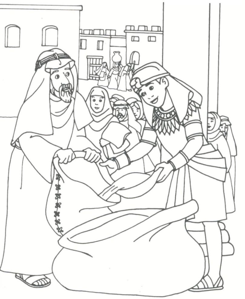 810x985 Big Joseph In Prison Coloring Pages Coat Of Ma
