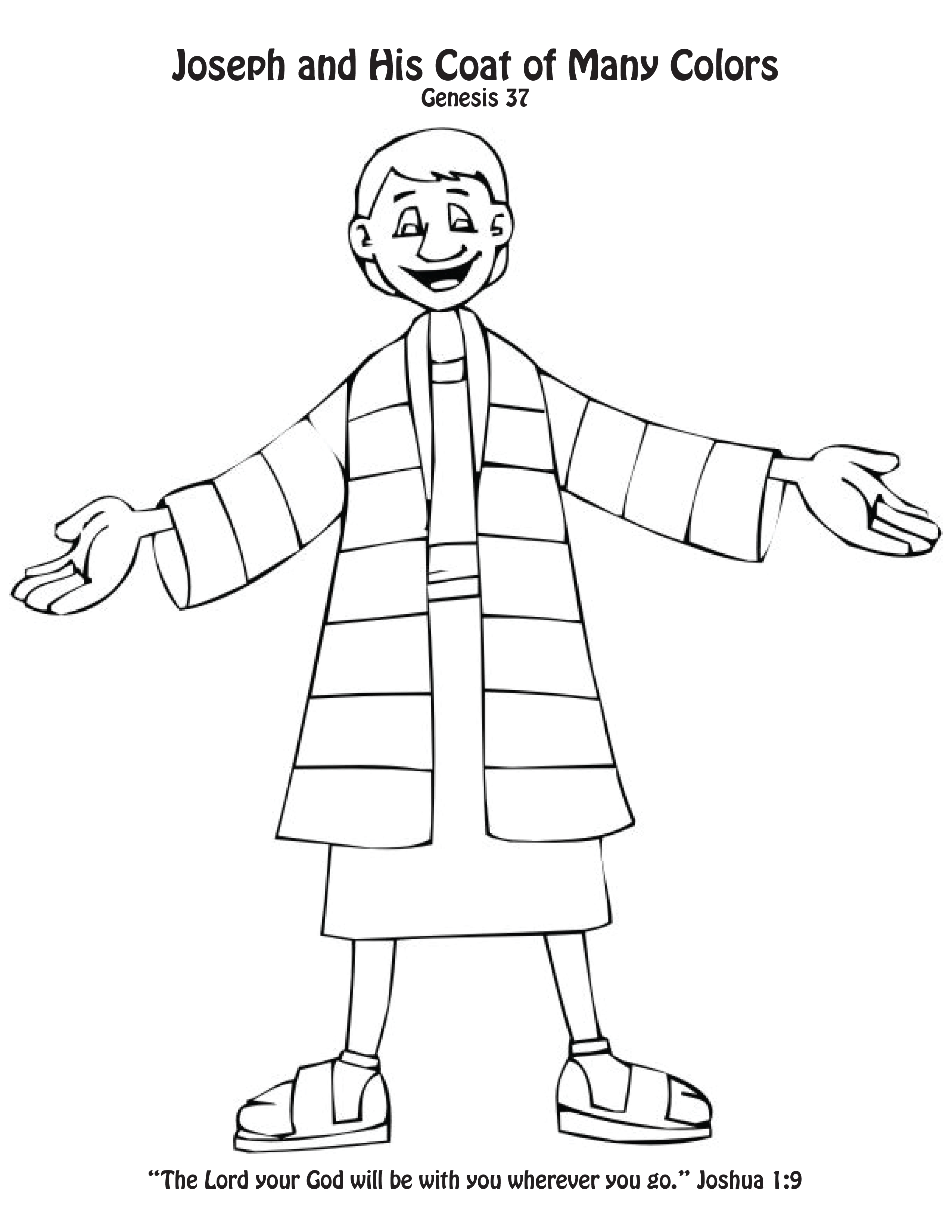 2550x3300 Strange Joseph And His Coat Of Many Colors Coloring Page S Craft