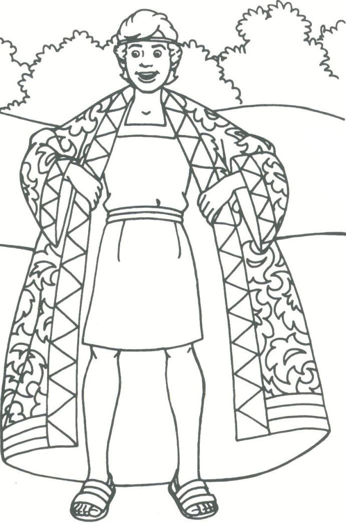 691x1042 Coloring Pages Joseph And The Coat Of Many Colors