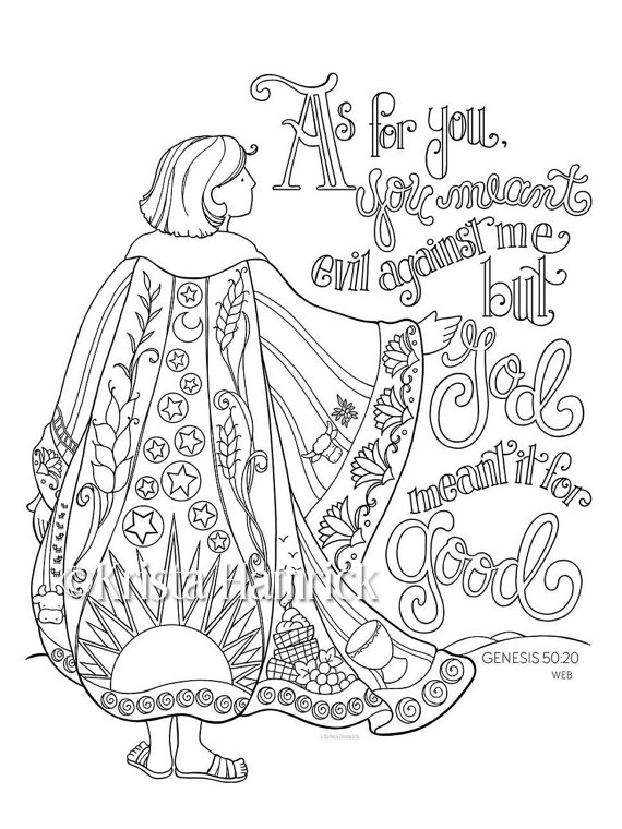 570x760 Joseph's Coat Of Many Colors Coloring Page Bible