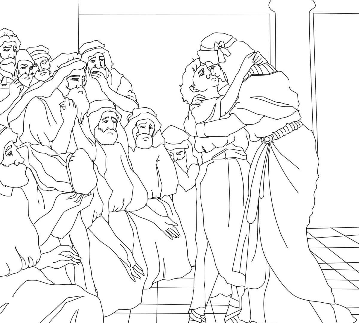 1200x1080 joseph forgives his brothers coloring page qlyview com and pages