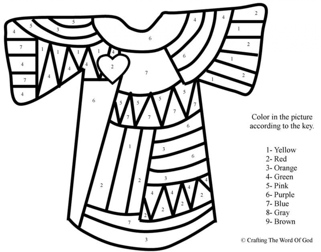 1024x803 Joseph And The Coat Of Many Colors Coloring Page