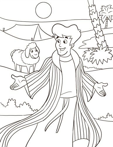 386x500 Joseph And The Coat Of Many Colors Coloring Page Bible