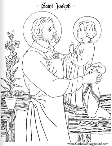 361x469 Beautiful Saint Joseph Child Jesus Coloring Page Saints