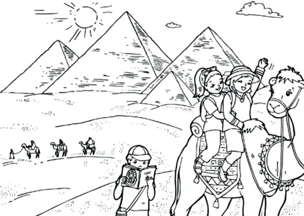 600x426 Egypt Coloring Page Pyramids With Ian Coloring Pages Joseph Egypt