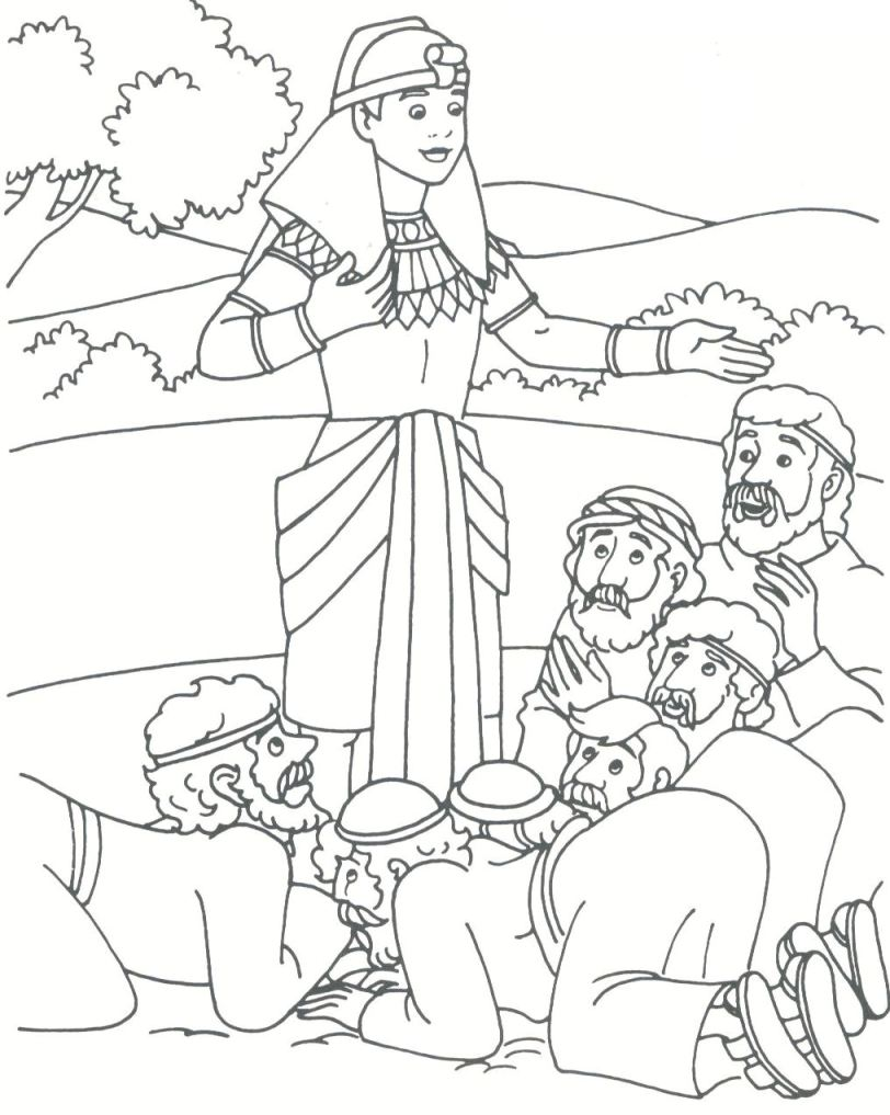 coloring pages joseph in prison