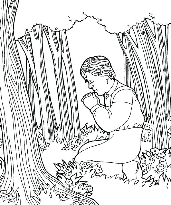 600x722 Joseph Smith Coloring Page Smith Pray At Hill Coloring Page Joseph