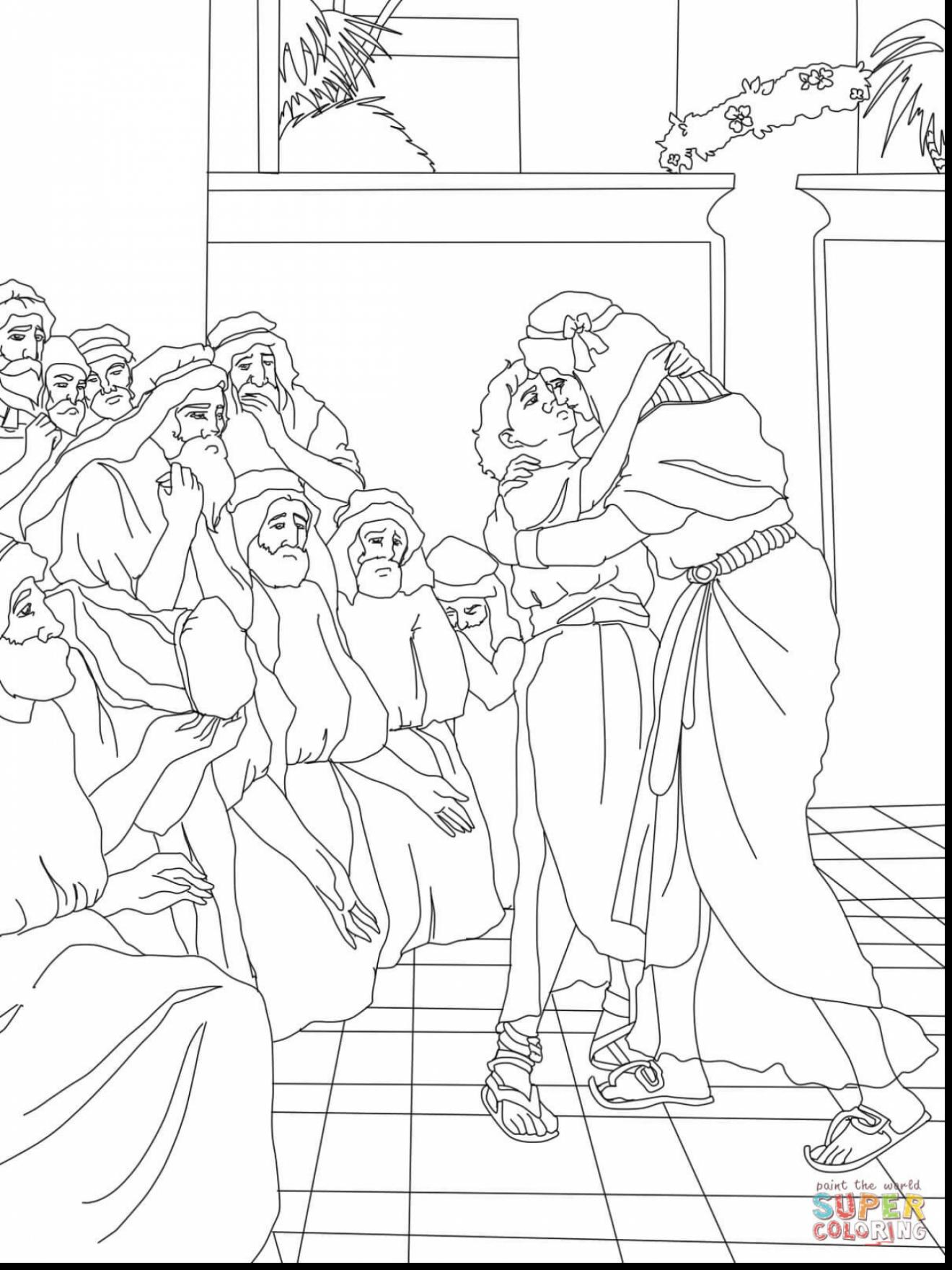 1320x1760 Joseph And His Brothers Coloring Page
