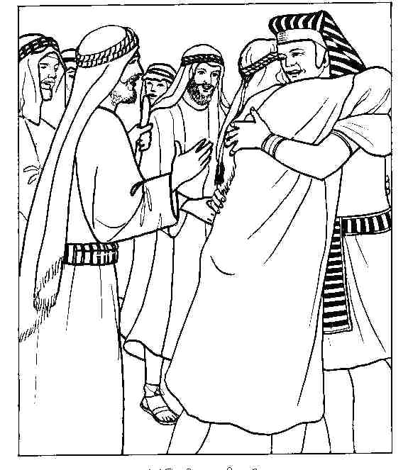 575x663 Joseph Bible Coloring Pages Forgives His Brothers Coloring Page