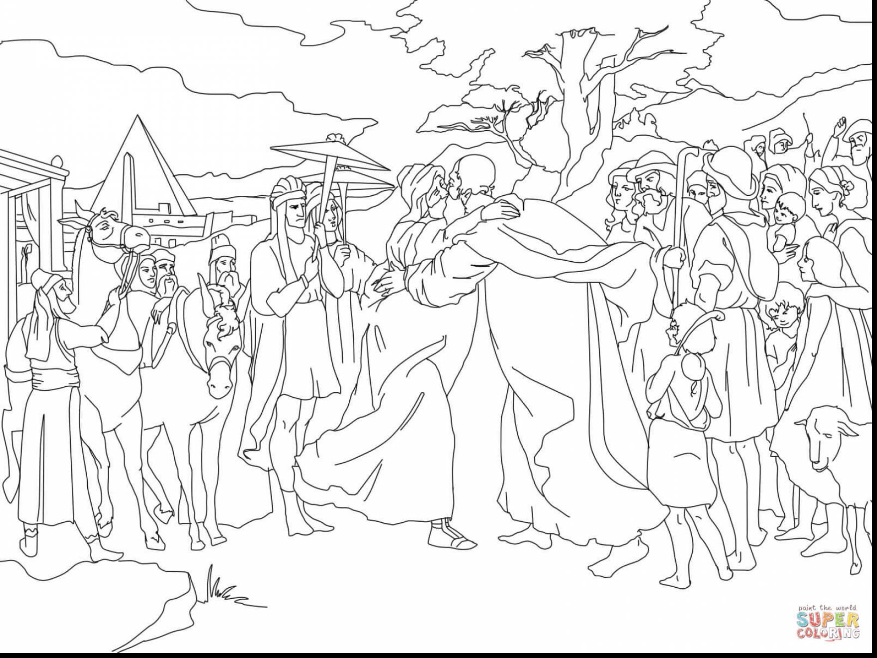 1760x1320 Joseph Coat Of Many Colors Coloring Page