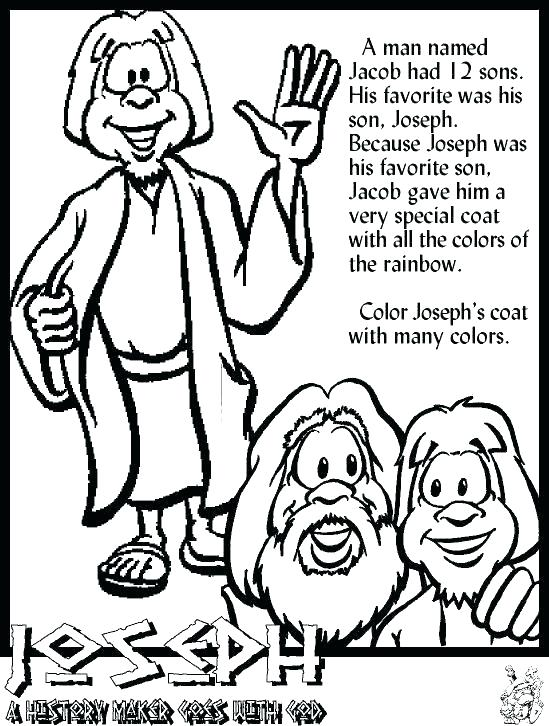 joseph son of jacob coloring pages 17
