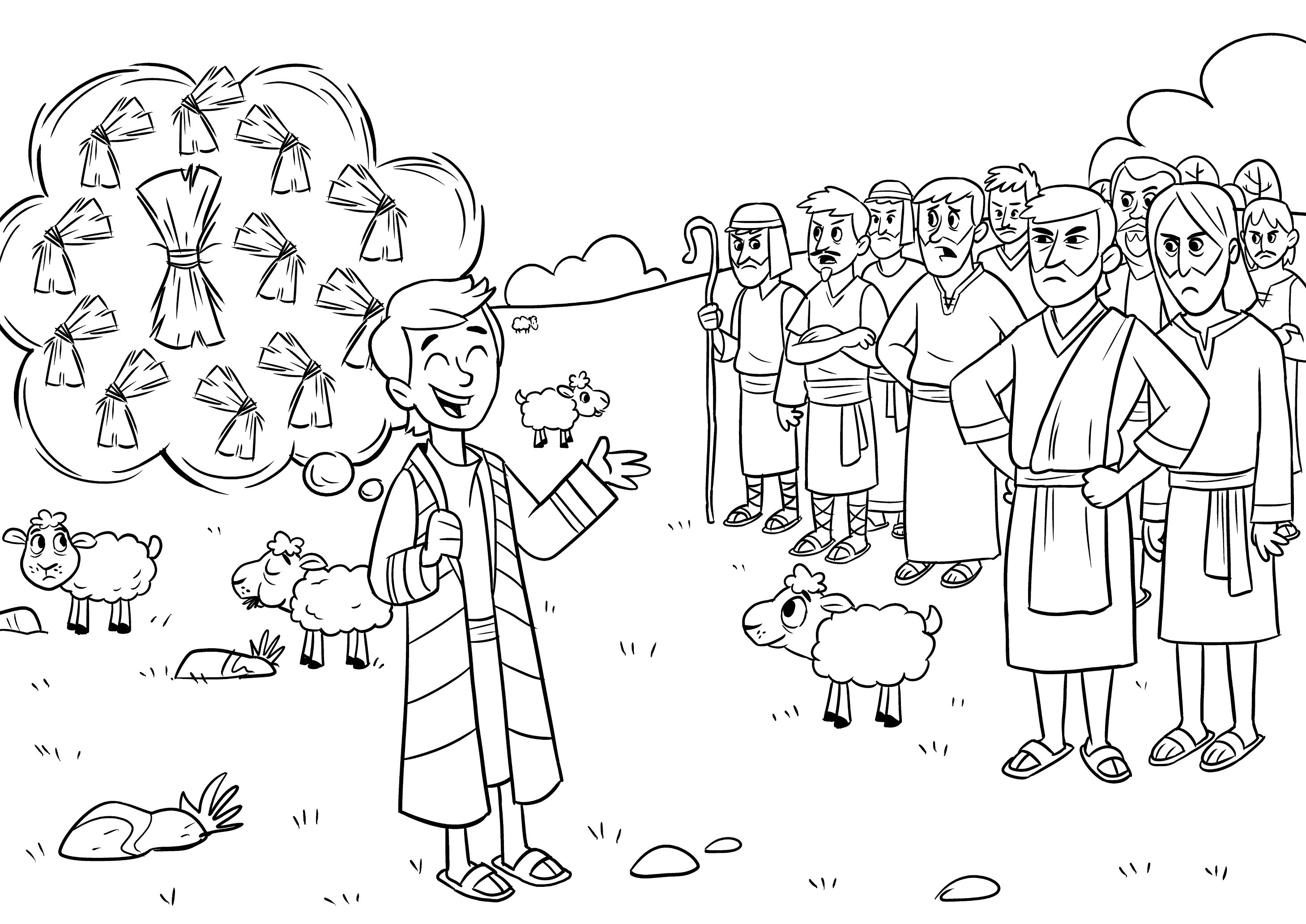 2918x2067 Joseph Coloring Pages Luxury Joseph Son Of Jacob Coloring Pages