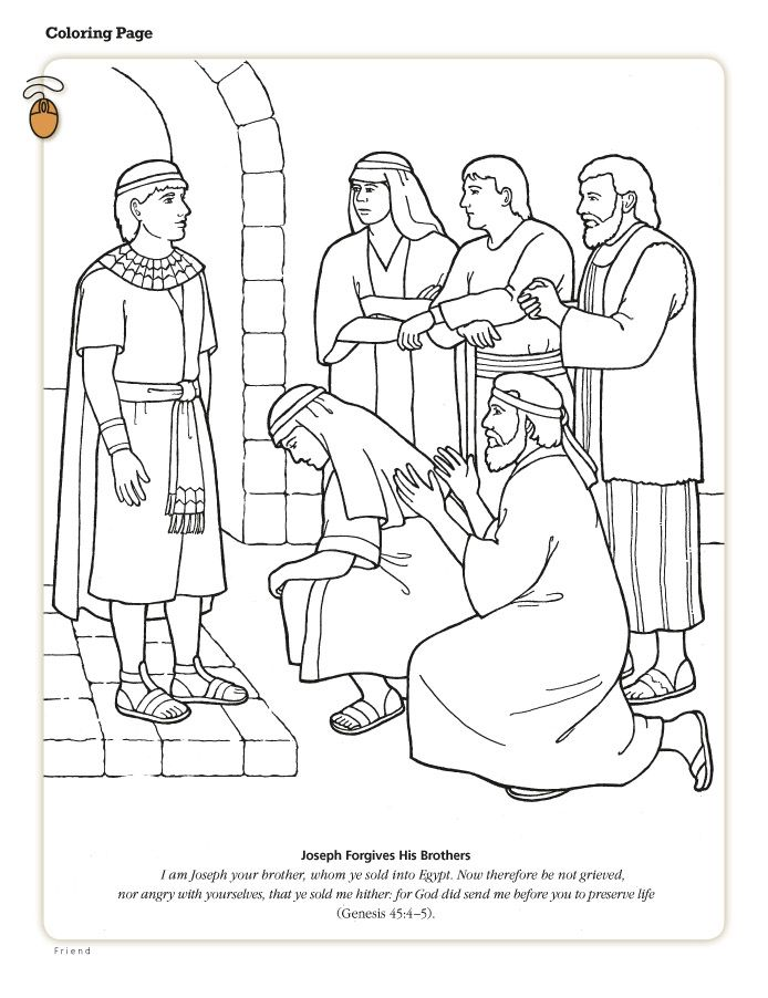 694x902 Joseph Forgives His Brothers Sunday School, And Bible