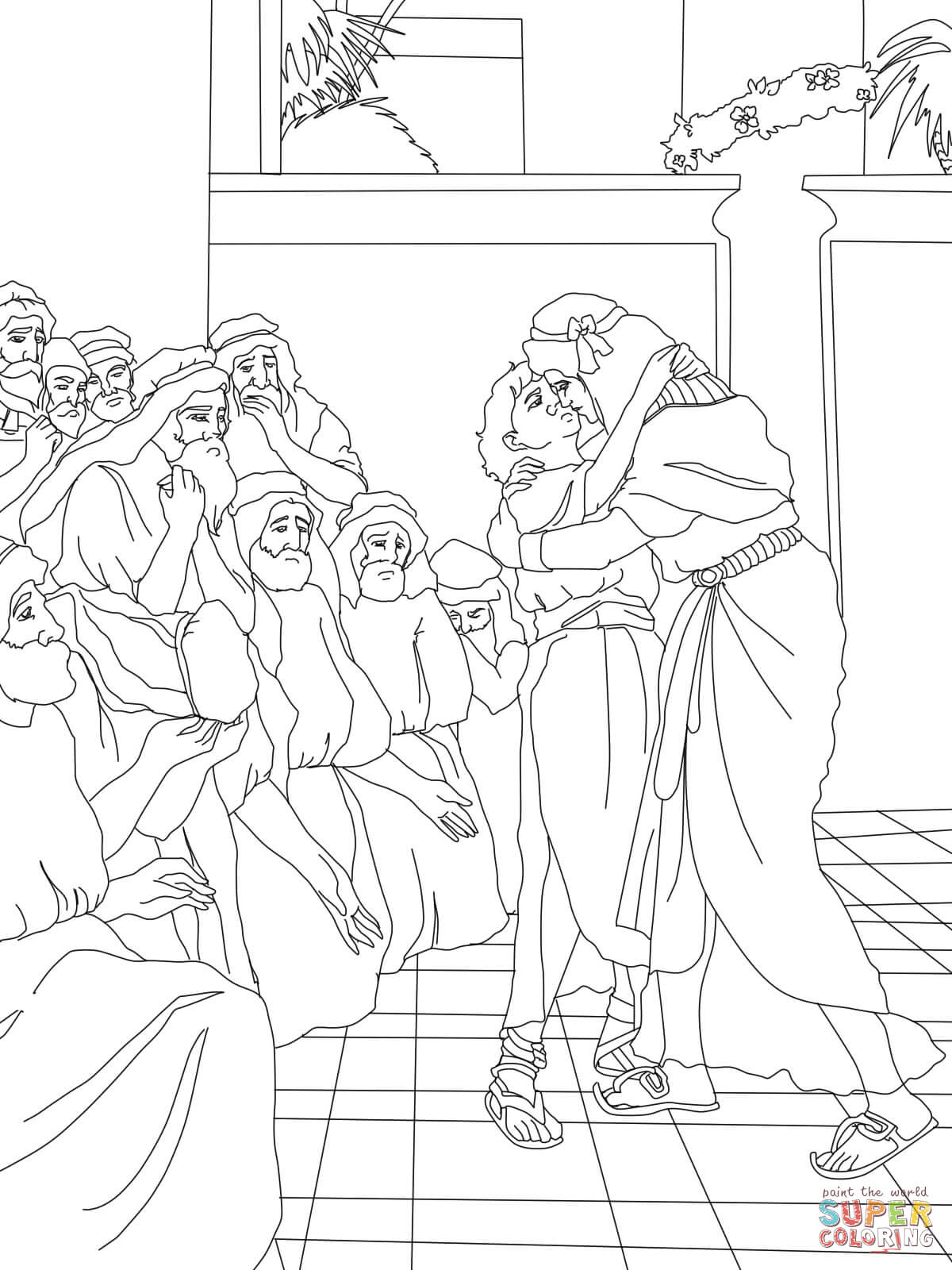1200x1600 Joseph Forgives His Brothers Coloring Page Qlyview Com And Pages