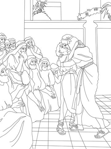 360x480 Joseph Forgives His Brothers Coloring Page Joseph And His