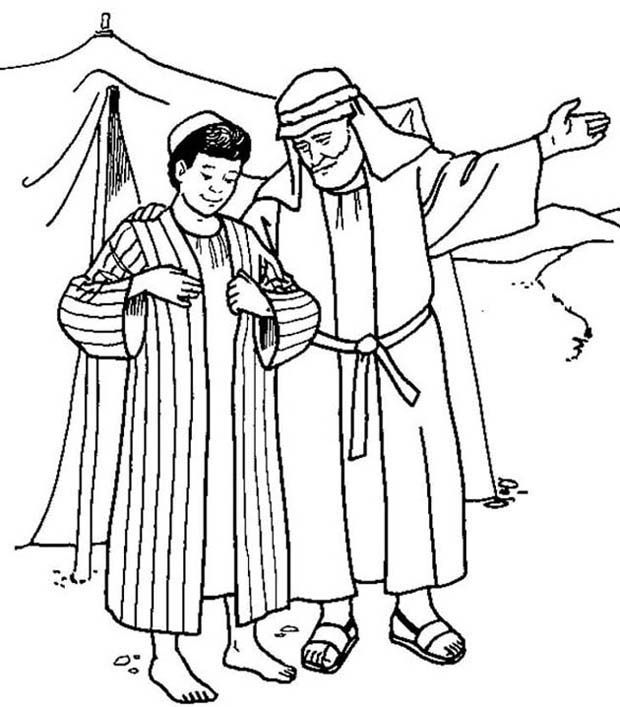 620x707 Joseph Receives The Coat Of Many Colours From His Father Jacob
