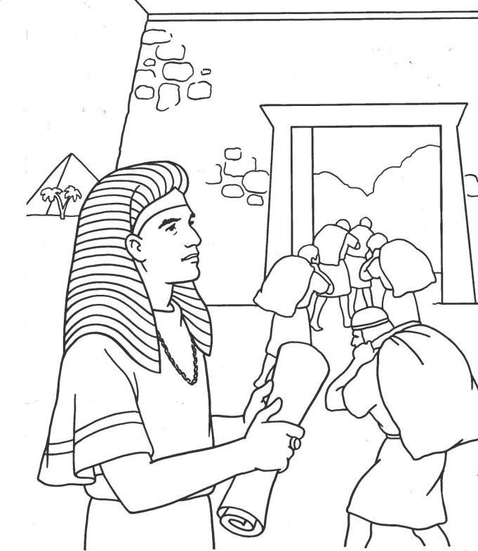 681x785 Joseph And The Coat Of Many Colors Coloring Page