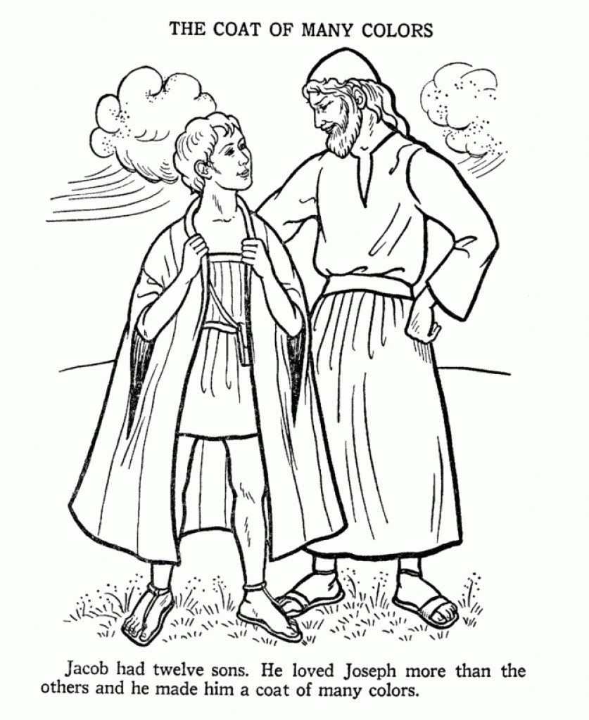 837x1024 Coloring Pages For The Story Of Joseph Copy Joseph Son Of Jacob