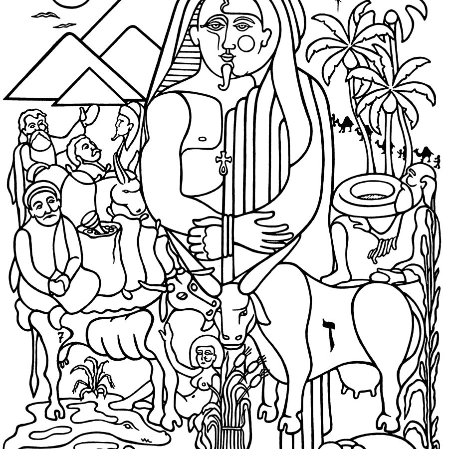 900x900 Coloring Sheet Joseph And His Brothers Pages General Meets Page