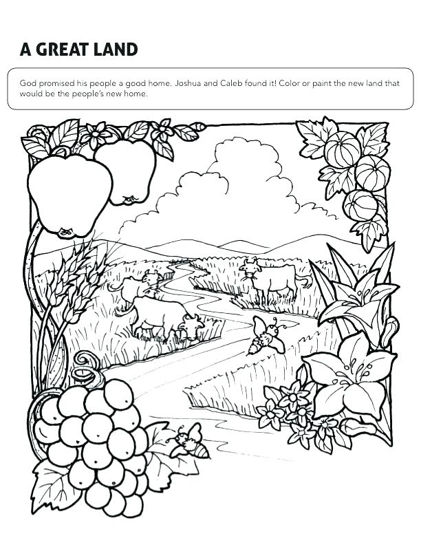 612x795 Joshua And Caleb Coloring Pages And Coloring Pages Find This Pin