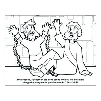 400x400 Coloring Page Acts Second Journey And In Prison Coloring Page