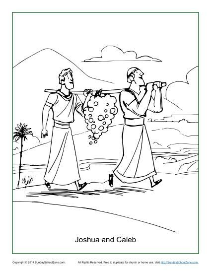 Joshua And The Battle Of Jericho Coloring Page