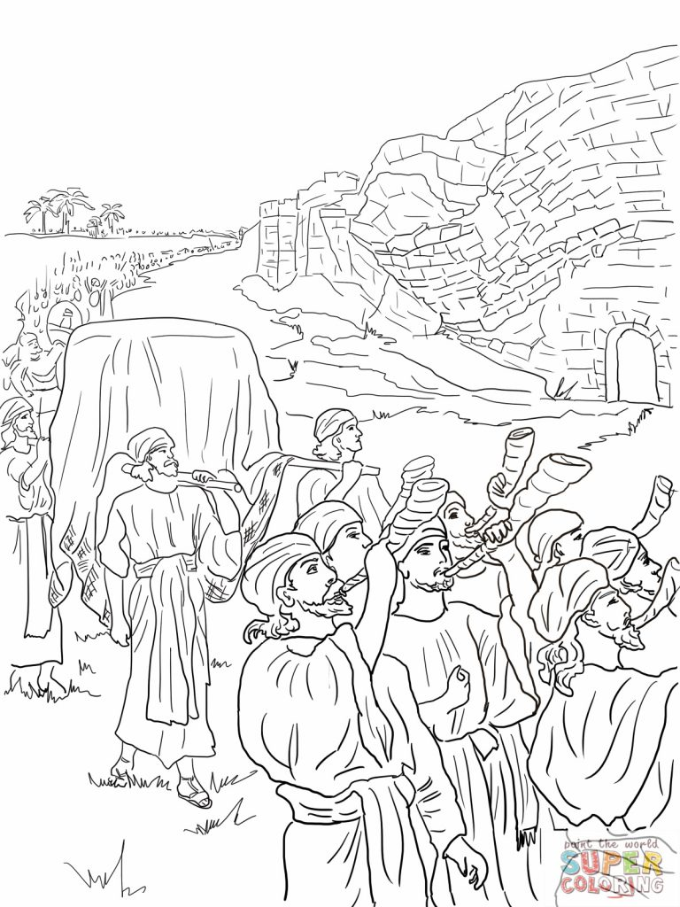 768x1024 Joshua And The Battle Of Jericho Coloring Page