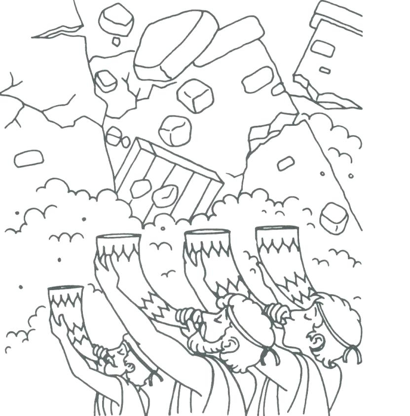 831x843 Joshua And Battle Of Jericho Coloring Pages Joshua Fought