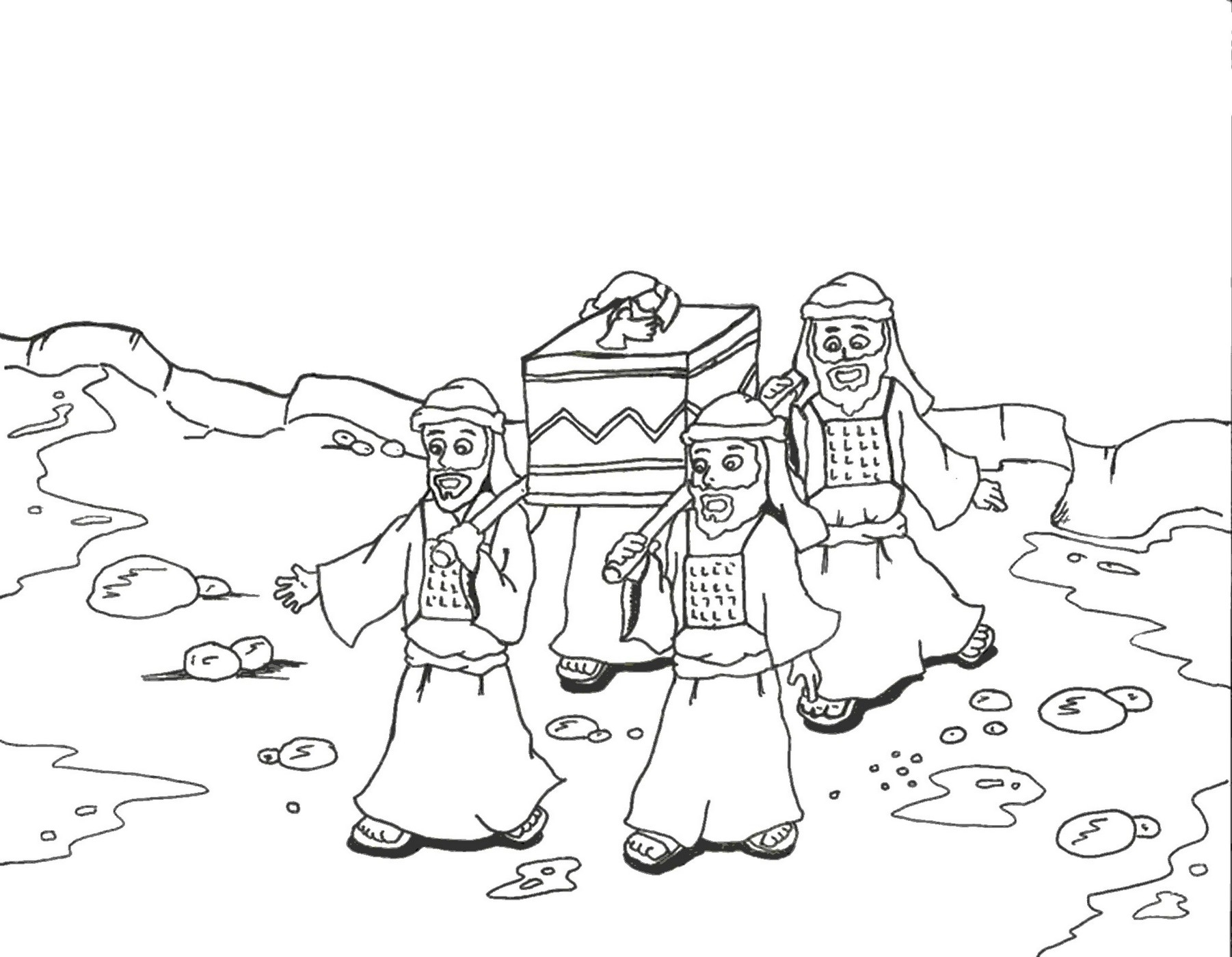 1802x1400 Joshua And The Promised Land Coloring Page