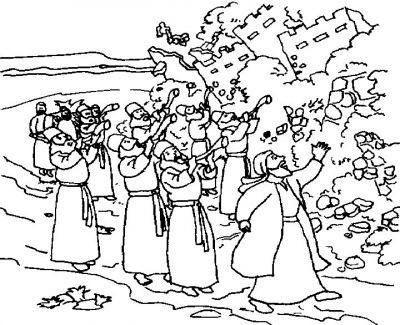 400x325 Joshua Fought The Battle Of Jericho Coloring Page Colouring