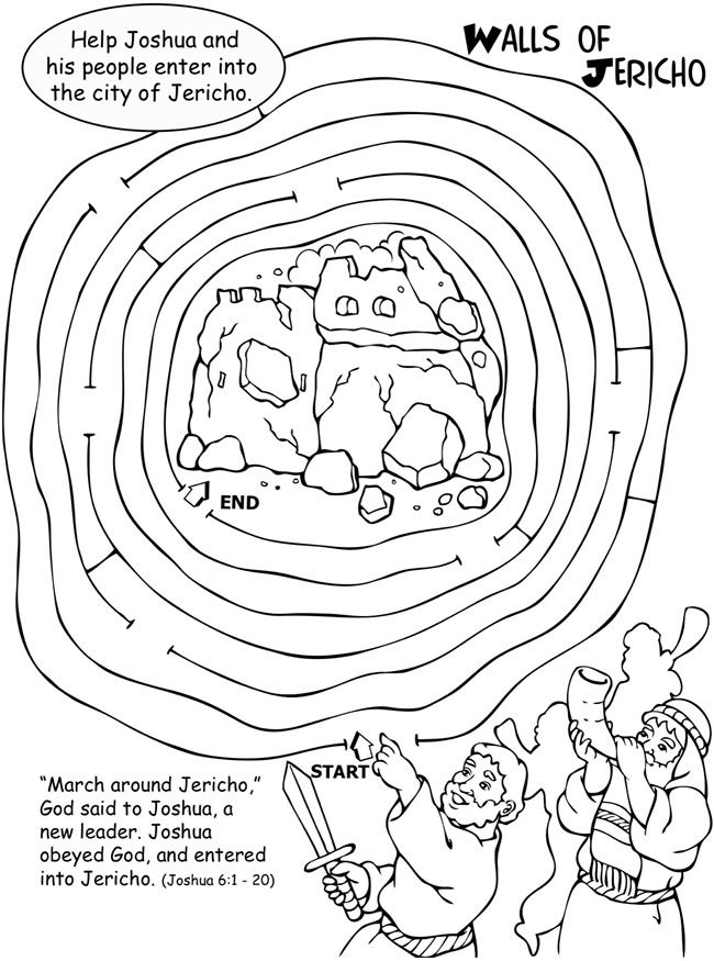 650x875 Joshua Walls Of Jericho Activity And Coloring Page Sunday School