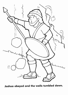 236x332 Joshua And The Battle Of Jericho Coloring Pages Stock Battle