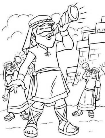 365x480 The Walls Of Jericho Coloring Page