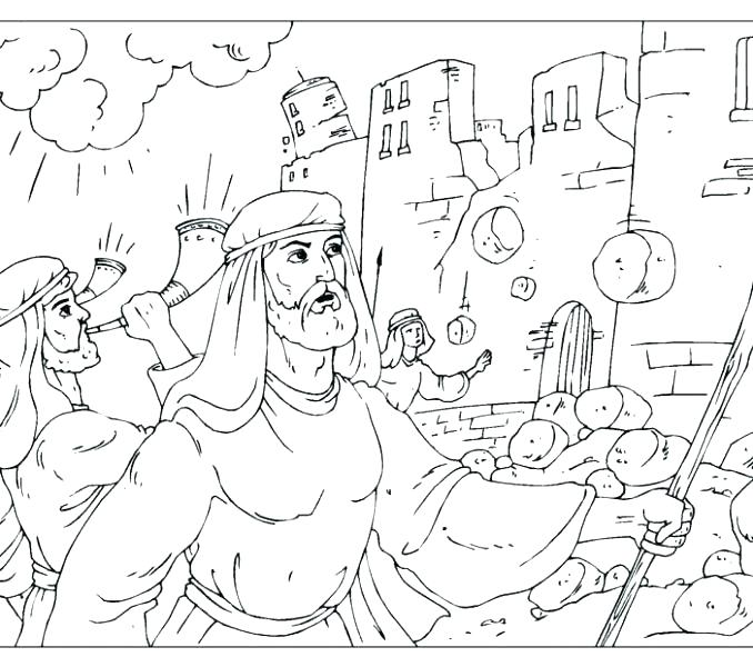 678x600 Battle Of Jericho Activity Page And Coloring Pages The Colors