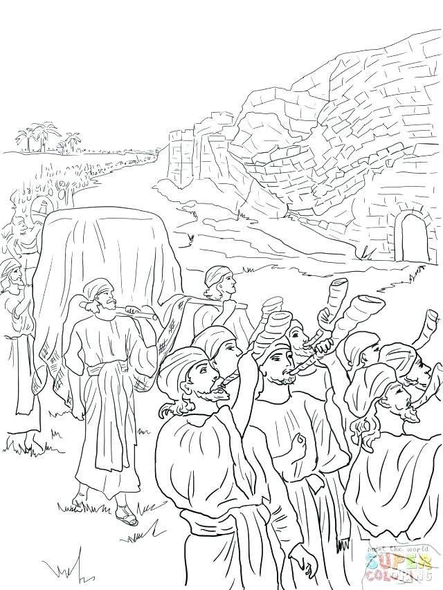 640x853 Coloring Page Joshua Battle Jericho Coloring Pages