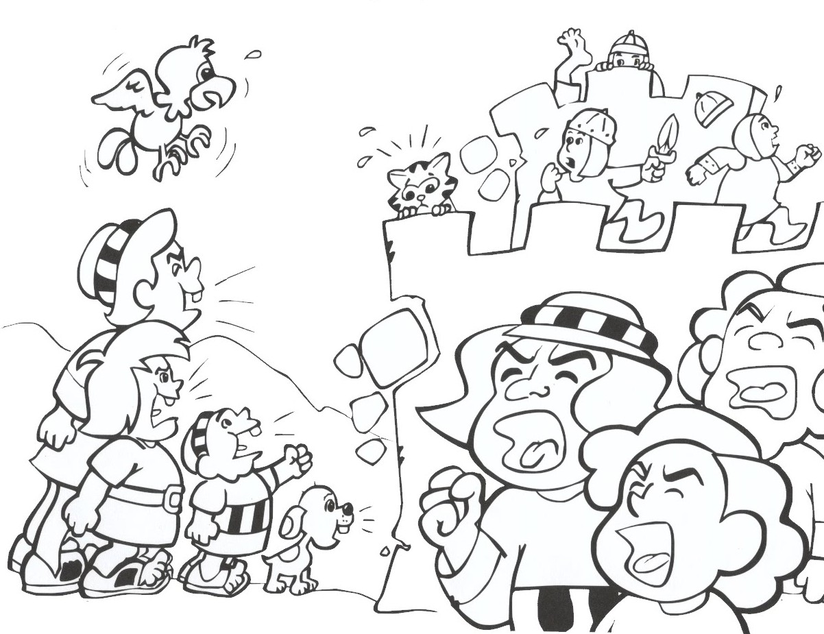 1202x925 Joshua And Jericho Coloring Pages The Story Lesson