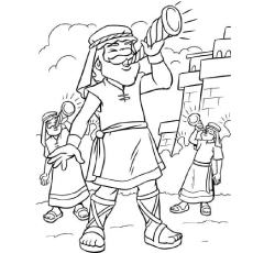 230x230 Jericho Coloring Page Wall Murals Bible Stories
