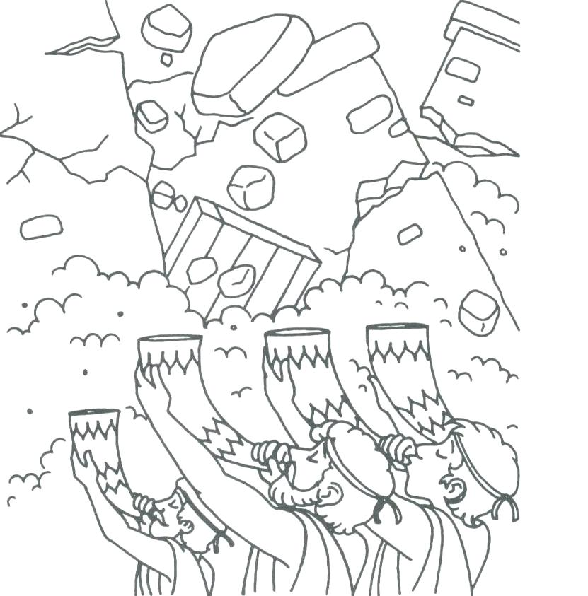 831x843 Joshua And Jericho Coloring Pages Joshua And The Battle Of Jericho