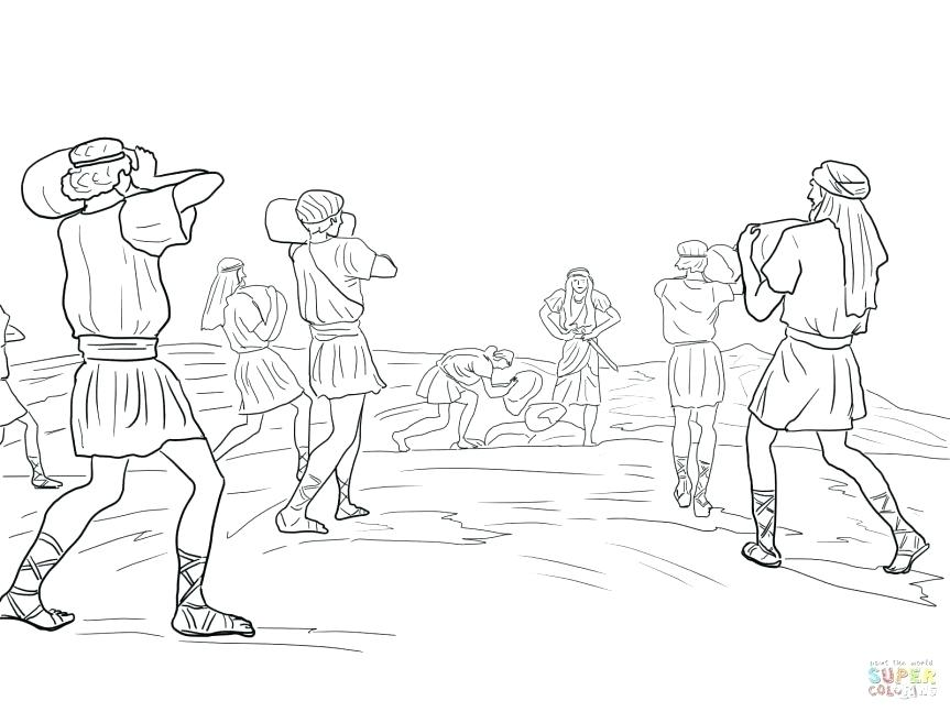 863x647 Joshua And Jericho Coloring Pages