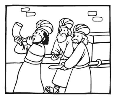 396x336 Joshua And The Battle Of Jericho Coloring Page Free Download