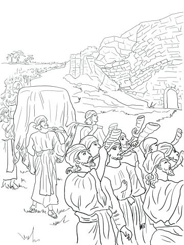360x480 Joshua And The Battle Of Jericho Coloring Page Unique Nice Kids